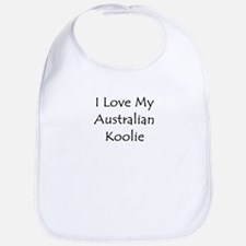 I Love My Australian Koolie Bib