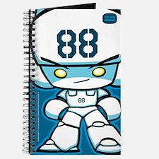 White Robot 88 on Blue Journal