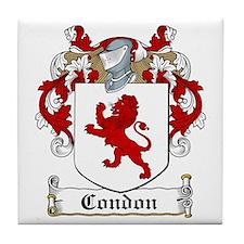 Condon Family Crest Tile Coaster