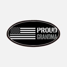 U.S. Flag Grey Line: Proud Grandma (Black) Patch