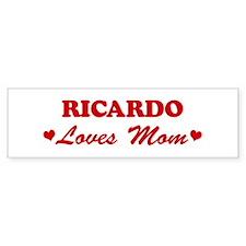 RICARDO loves mom Bumper Bumper Sticker