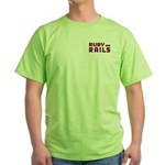 Ruby on Rails Green T-Shirt