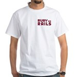 Ruby on Rails White T-Shirt