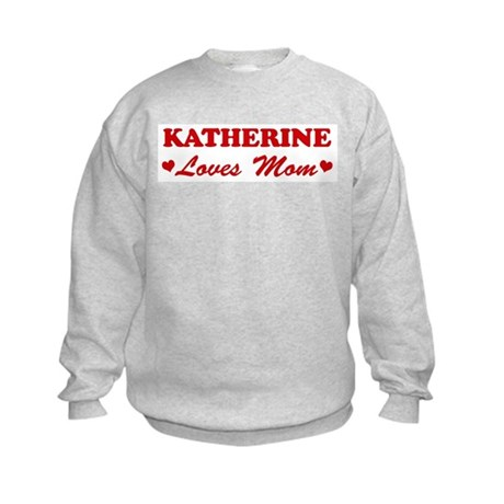 KATHERINE loves mom Kids Sweatshirt