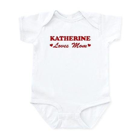 KATHERINE loves mom Infant Bodysuit