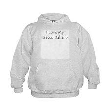 I Love My Bracco Italiano Hoodie