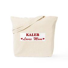 KALEB loves mom Tote Bag