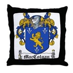 MacColgan Family Crest Throw Pillow