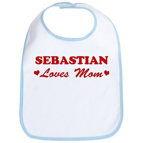 SEBASTIAN loves mom Bib