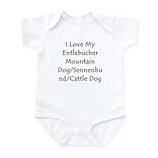 I Love My Entlebucher Mountai Infant Bodysuit