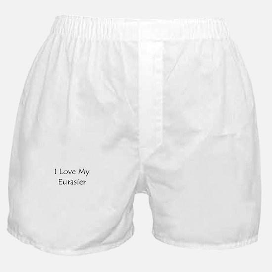 I Love My Eurasier Boxer Shorts