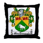 MacDonogh Family Crest Throw Pillow