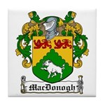 MacDonogh Family Crest Tile Coaster