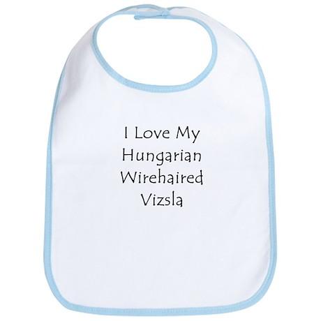 I Love My Hungarian Wirehaire Bib