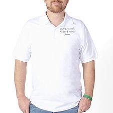 I Love My Irish Red and White T-Shirt
