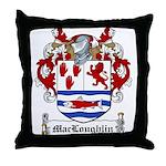 MacLoughlin Family Crest Throw Pillow