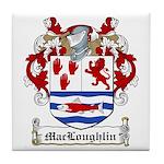 MacLoughlin Family Crest Tile Coaster