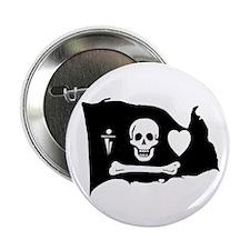 Stede Bonnet Jolly Roger Button