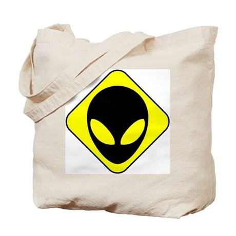 Alien Face Tote Bag