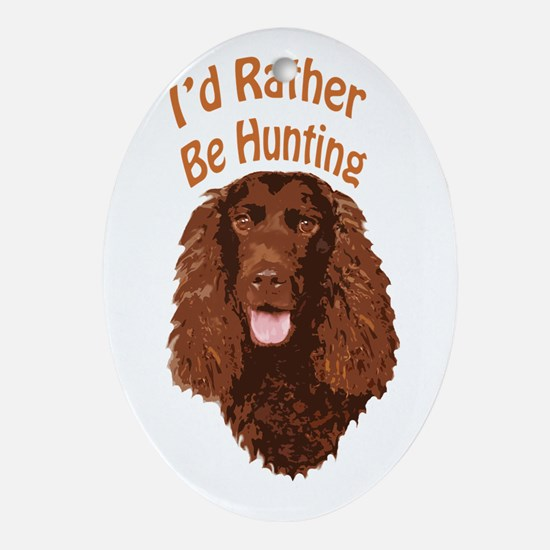 Water Spaniel Hunting Oval Ornament