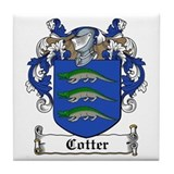 Cotter family crest tile Drink Coasters