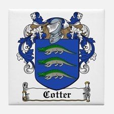 Cotter Family Crest Tile Coaster