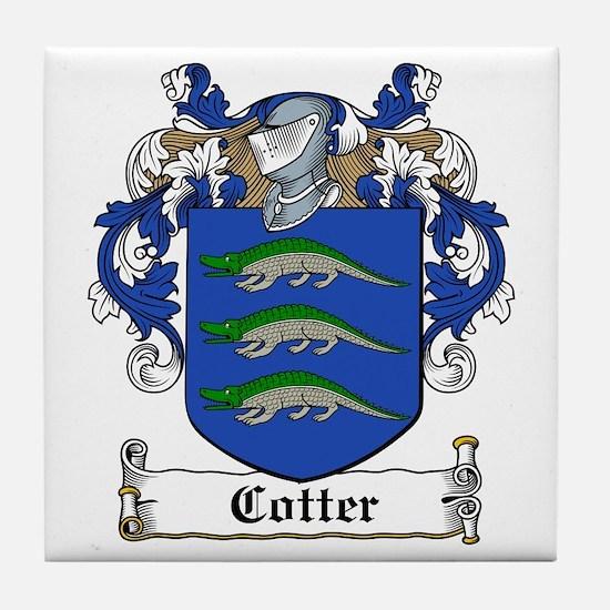 Cotter Family Crest Tile Coaster