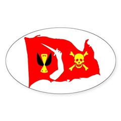 Christopher Moody Jolly Roger Oval Decal