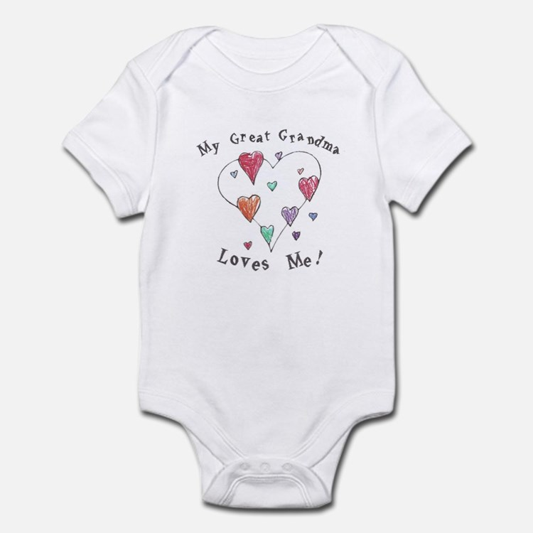 My Great Grandma Loves Me Infant Bodysuit