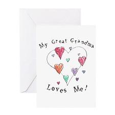My Great Grandma Loves Me Greeting Card