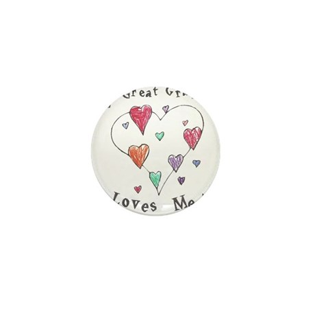 My Great Grandma Loves Me Mini Button (10 pack)