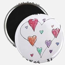 """My Great Grandma Loves Me 2.25"""" Magnet (10 pack)"""