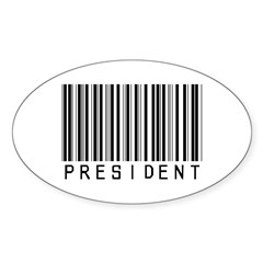 President Barcode Oval Decal