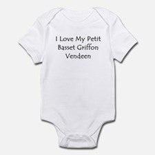 I Love My Petit Basset Griffo Infant Bodysuit