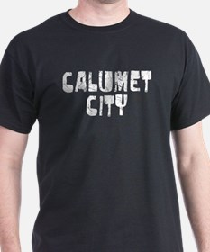 Calumet City Faded (Silver) T-Shirt