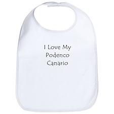 I Love My Podenco Canario Bib