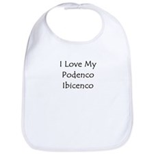 I Love My Podenco Ibicenco Bib
