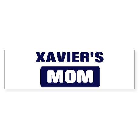 XAVIER Mom Bumper Sticker