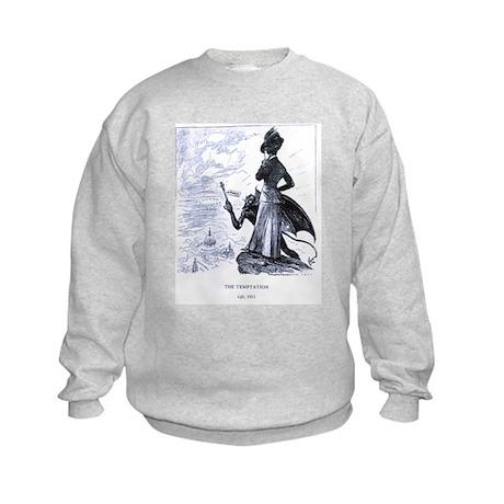 Suffrage is a Temptation Kids Sweatshirt
