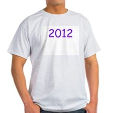 2012 Purple - Ash Grey T-Shirt