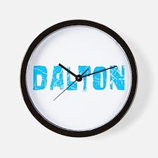 Dalton Faded (Blue) Wall Clock