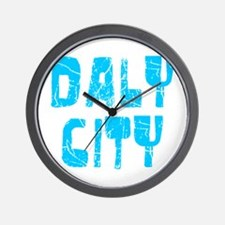 Daly City Faded (Blue) Wall Clock