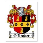 O'Broder Family Crest Small Poster