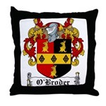 O'Broder Family Crest Throw Pillow