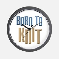 Born to Knit Crafts Wall Clock