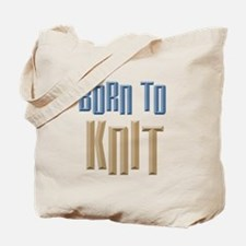 Born to Knit Crafts Tote Bag