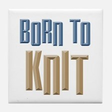 Born to Knit Crafts Tile Coaster