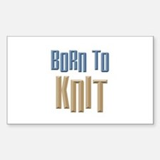 Born to Knit Crafts Rectangle Decal