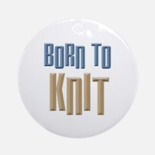 Born to Knit Crafts Ornament (Round)