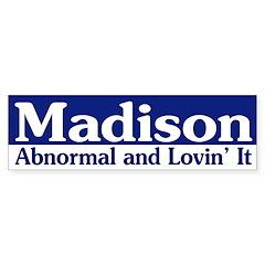 Madison Abnormal bumper sticker